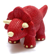 My First Tommy Triceratops Natural Rubber Baby Teether Toy