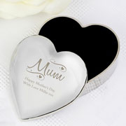 Personalised Mum Swirls Hearts Trinket Box Any Message