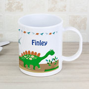Drop Proof Personalised Dinosaur Plastic Mug
