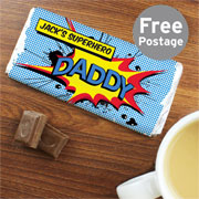 Personalised Comic Book Chocolate Bar Free Delivery