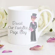 Personalised Fantastic Page Boy China Mug