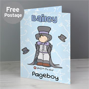 Personalised Bang On The Door Wedding Boy Card