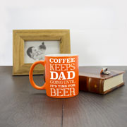 Coffee and Beer Loving Dad Matte Coloured Personalised Mug