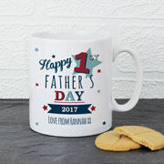 Personalised Happy 1st Fathers Day Mug