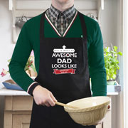 Personalised Awesome Apron Dad Grandad Uncle Godfather etc