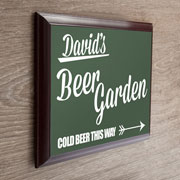 Personalised Beer Garden Framed Metal Garden Plaque