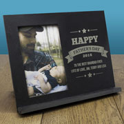Personalised Slate Fathers Day Photo Frame