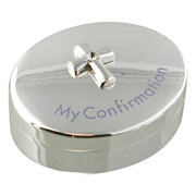 Juliana Silverplated Rosary Box Cross Icon Confirmation