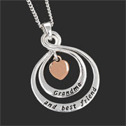 Equilibrium Double Loop Grandma and Best Friend Necklace