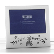 My First Birthday Aluminium Photo Frame