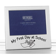 My First Day At School Aluminium Photo Frame
