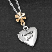 Gold and Silver Plated Equilibrium Flower Girl Necklace