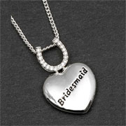 Equilibrium Silver Plated Bridesmaid Heart Necklace