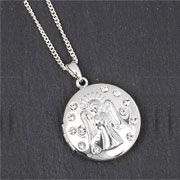 Equilibrium Silver Plated Guardian Angel Locket