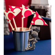 Bunnies Day Out Pewter Popcorn Mug by Royal Selangor