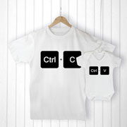 Personalised Daddy and Me Copy and Paste Clothing Set