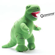 Large Knitted Roaring T Rex Soft Toy