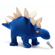 Large Knitted Roaring Stegosaurus Soft Toy