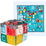 Janod Kubix Wooden Number and Letter Blocks in Carry Bag