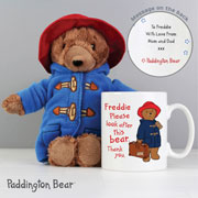 Personalised Paddington Mug with Paddington Bear Toy