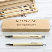 Personalised Classic Wooden Pen and Pencil Box Set