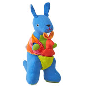 Fair Trade Kangaroo and Joey by Barefoot Toys