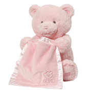 Pink My First Teddy Bear Peek A Boo Toy by Gund