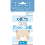 Baby Boy Memorable Moments Cards
