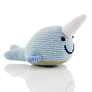 Fair Trade Crochet Narwhal Rattle by Pebble