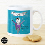 Personalised Purple Ronnie Male Wedding Mug