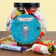 Personalised Purple Ronnie Male Wedding Sweet Jar