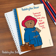 Personalised Paddington Bear A5 Notebook