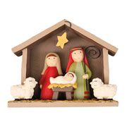 Holy Family Childrens Resin Nativity Scene