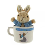 Peter Rabbit Organic Bamboo Mug and Soft Toy Gift Set