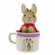 Flopsy Bunny Organic Bamboo Mug and Soft Toy Gift Set