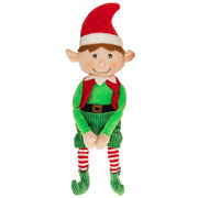 Plush Christmas Elf Boy Sitting