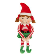 Plush Christmas Elf Girl Sitting