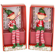 Christmas Elf Dangly Leg Figure