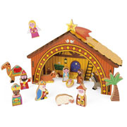 Childrens Wooden Nativity Set by Janod