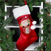 Personalised Pocket Santa Claus Luxury Stocking