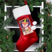 Personalised Festive Fox Luxury Toddler's Christmas Stocking