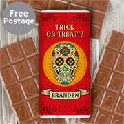 Personalised Sugar Skull Chocolate Bar