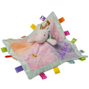 Personalised Unicorn Character Taggie Baby Comforter
