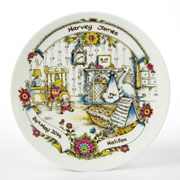 Personalised Traditional China Baby Birth Plate