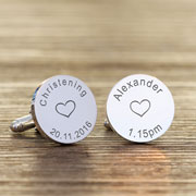 Personalised Silver Plated Christening Name Cufflinks
