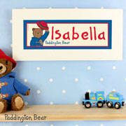 Personalised Paddington Bear Name Frame