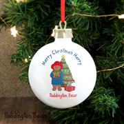 Personalised Paddington Bear Ceramic Christmas Bauble