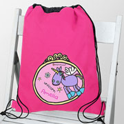 Personalised Bang on the Door Unicorn Swim and Kit Bag
