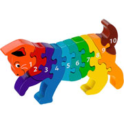Lanka Kade Fair Trade Wooden Cat 1 to 10 Jigsaw
