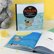 Personalised Babar the Elephant Hard Back Baby Book